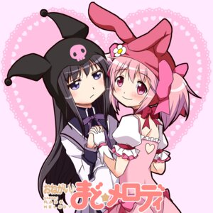 Rating: Safe Score: 11 Tags: akemi_homura dress kairakuen_umenoka kaname_madoka onegai_my_melody puella_magi_madoka_magica User: Radioactive