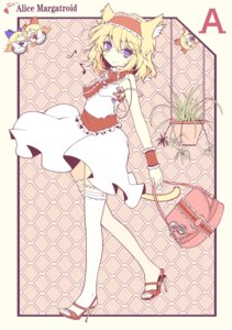 Rating: Safe Score: 37 Tags: alice_margatroid animal_ears dress ideolo nekomimi shanghai tail thighhighs touhou User: brigfox