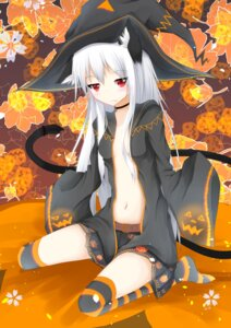 Rating: Questionable Score: 42 Tags: animal_ears cleavage halloween loli nekomimi no_bra open_shirt tagme tail thighhighs witch User: TP1