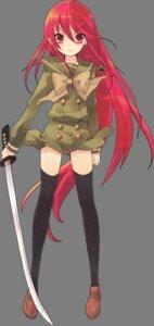 Rating: Safe Score: 24 Tags: ito_noizi seifuku shakugan_no_shana shana sword thighhighs transparent_png User: yueshana314