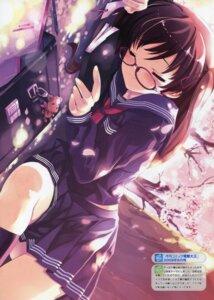 Rating: Safe Score: 56 Tags: bleed_through megane misaki_kurehito seifuku User: Akibarika