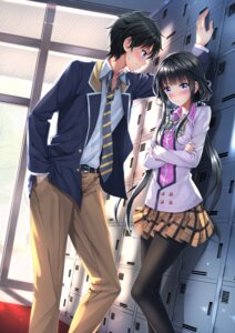 Rating: Safe Score: 49 Tags: adagaki_aki breast_hold makabe_masamune masamune-kun_no_revenge pantyhose seifuku swordsouls User: Mr_GT