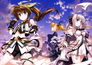 Rating: Safe Score: 51 Tags: armor bodysuit cleavage dress fujima_takuya fuuka_reventon mahou_shoujo_lyrical_nanoha mahou_shoujo_lyrical_nanoha_vivid rinne_berlinetta see_through vivid_strike! vivio User: drop