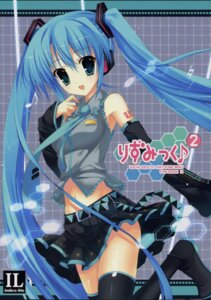 Rating: Safe Score: 25 Tags: hatsune_miku indico_lite mitha screening thighhighs vocaloid User: withul