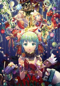Rating: Safe Score: 40 Tags: christmas ekita_gen hatsune_miku horns kagamine_len kagamine_rin vocaloid User: Mr_GT