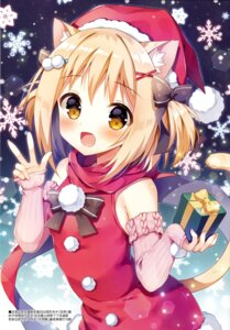 Rating: Questionable Score: 32 Tags: animal_ears christmas dress mauve nekomimi tail User: Radioactive