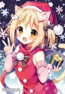 Rating: Questionable Score: 38 Tags: animal_ears christmas dress mauve nekomimi tail User: Radioactive