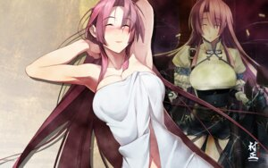 Rating: Questionable Score: 45 Tags: cleavage dress full_metal_daemon_muramasa namaniku_atk nitroplus ootori_kanae towel wallpaper wet User: dlnm