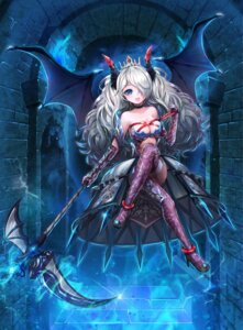 Rating: Questionable Score: 58 Tags: cleavage devil horns lunacle stockings thighhighs weapon wings User: mash