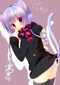 Rating: Questionable Score: 56 Tags: animal_ears ass nekomimi nopan sakura_hanpen tail thighhighs User: tbchyu001
