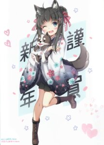 Rating: Questionable Score: 30 Tags: animal_ears heels inumimi japanese_clothes neko_no_onsen nyanya tail User: Radioactive