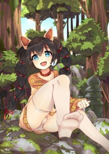 Rating: Questionable Score: 52 Tags: animal_ears cameltoe dress feet nekomicha pantsu thighhighs User: KazukiNanako