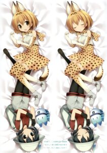Rating: Questionable Score: 29 Tags: animal_ears dakimakura kaban_(kemono_friends) karomix karory kemono_friends lucky_beast pantyhose serval tail thighhighs User: Twinsenzw