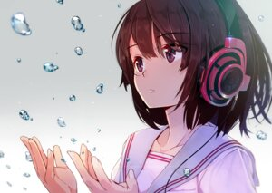 Rating: Safe Score: 70 Tags: headphones machimura_komori seifuku User: blooregardo