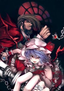 Rating: Safe Score: 10 Tags: cleavage crossover guilty_gear remilia_scarlet serizawa_mutsuki slayer touhou wings User: Mr_GT