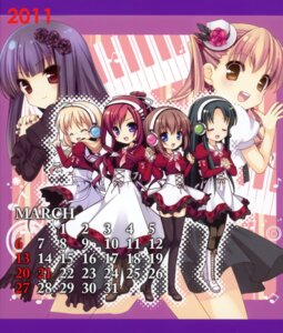 Rating: Safe Score: 13 Tags: 11eyes calendar hatori_piyoko hirohara_yukiko kusakabe_misuzu minase_yuka seifuku tachibana_kukuri User: midzki