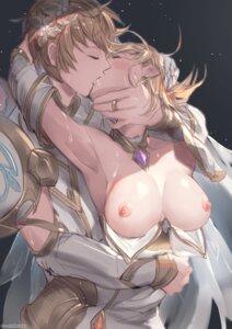 Rating: Questionable Score: 133 Tags: armor artist_revision breasts djeeta_(granblue_fantasy) gran_(granblue_fantasy) granblue_fantasy milli_little nipples no_bra open_shirt User: BattlequeenYume