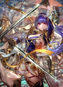 Rating: Safe Score: 27 Tags: armor cleavage signo_aaa sword thighhighs User: mash