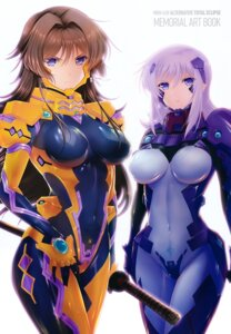 Rating: Safe Score: 56 Tags: bodysuit cryska_barchenowa muvluv muvluv_alternative sword takamura_yui total_eclipse User: Radioactive