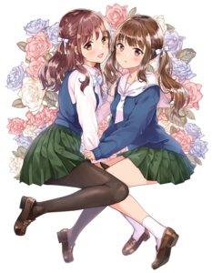 Rating: Safe Score: 36 Tags: heels matsuzaki_miyuki pantyhose seifuku sweater yuri User: hiroimo2