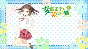 Rating: Questionable Score: 44 Tags: hentai_ouji_to_warawanai_neko kantoku maimaki_mai seifuku wallpaper User: SHM222