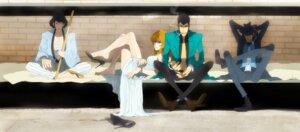 Rating: Safe Score: 7 Tags: arsene_lupin_iii bondage business_suit dress heels ishikawa_goemon_xiii jigen_daisuke kimono lupin_iii mine_fujiko open_shirt sarashi smoking weapon zz User: charunetra