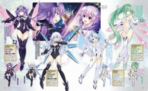 Rating: Questionable Score: 34 Tags: bikini_armor black_heart choujigen_game_neptune cleavage compile_heart green_heart heels idea_factory leotard neptune purple_heart thighhighs tsunako underboob weapon white_heart wings yuusha_neptune_sekai_yo_uchuu_yo_katsumoku_seyo!!_ultimate_rpg_sengen!! User: Nepcoheart