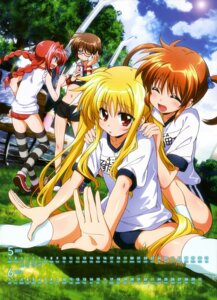 Rating: Questionable Score: 41 Tags: buruma calendar fate_testarossa gym_uniform kawakami_shuuichi mahou_shoujo_lyrical_nanoha mahou_shoujo_lyrical_nanoha_a's mahou_shoujo_lyrical_nanoha_innocent material-s megane takamachi_nanoha thighhighs vita User: vkun