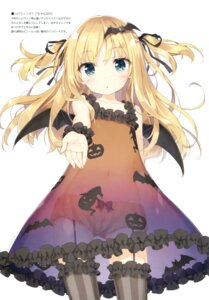 Rating: Questionable Score: 123 Tags: dress halloween loli luminocity no_bra pantsu peco see_through shimotsuki_potofu stockings thighhighs wings User: Twinsenzw