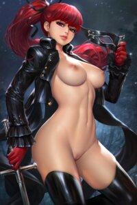Rating: Explicit Score: 42 Tags: bottomless breasts nipples no_bra nudtawut_thongmai open_shirt persona_5 pussy sword thighhighs uncensored yoshizawa_kasumi User: Darkthought75