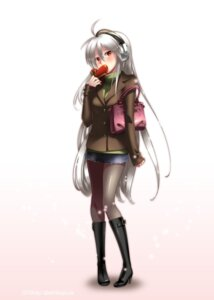 Rating: Safe Score: 26 Tags: caffein headphones pantyhose valentine vocaloid yowane_haku User: Radioactive