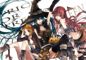 Rating: Safe Score: 28 Tags: animal_ears halloween hatsune_miku kagamine_rin megurine_luka nekomimi tail thighhighs tsukioka_tsukiho vocaloid wings witch User: thfp