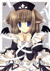 Rating: Safe Score: 5 Tags: animal_ears bandages maid nekomimi nekoneko wings User: Radioactive
