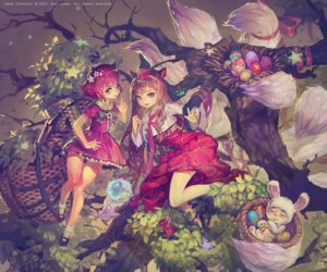Rating: Safe Score: 61 Tags: ahri animal_ears annie_hastur league_of_legends proopra tail teemo User: fairyren