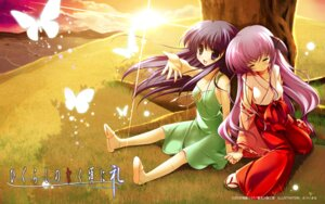 Rating: Safe Score: 22 Tags: furude_rika hanyuu higurashi_no_naku_koro_ni horns miko mitsui_mana wallpaper User: Velen