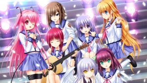 Rating: Safe Score: 43 Tags: angel_beats! guitar hisako irie_(angel_beats!) iwasawa key na-ga seifuku sekine tenshi wallpaper wings yui_(angel_beats!) yurippe User: 糖果部部长