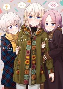 Rating: Safe Score: 28 Tags: hoshikawa_hotaru new_game! sweater tokunou_shoutarou tooyama_rin yagami_kou User: kiyoe