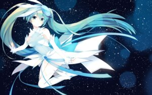 Rating: Safe Score: 55 Tags: dress hatsune_miku shiorinda spica_(artist) thighhighs vocaloid User: charunetra