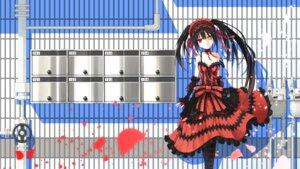 Rating: Safe Score: 25 Tags: cleavage date_a_live dress gothic_lolita heterochromia lolita_fashion tokisaki_kurumi wallpaper yuragi_(amriel) User: RyuZU