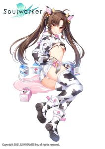 Rating: Questionable Score: 36 Tags: animal_ears ass bikini horns maett soul_worker swimsuits tail thighhighs User: Mr_GT