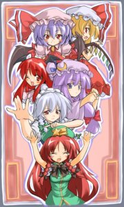 Rating: Safe Score: 6 Tags: flandre_scarlet hong_meiling izayoi_sakuya koakuma patchouli_knowledge remilia_scarlet takeshi_shinobu touhou User: Radioactive