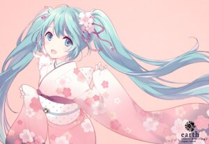 Rating: Safe Score: 41 Tags: hatsune_miku inko kimono vocaloid User: Radioactive
