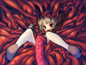 Rating: Explicit Score: 24 Tags: hitomaru shrine tentacles wallpaper User: fireattack
