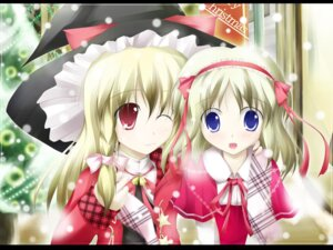 Rating: Safe Score: 9 Tags: alice_margatroid christmas desuno kirisame_marisa touhou wallpaper User: konstargirl