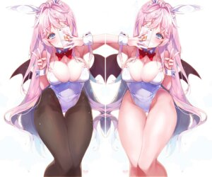 Rating: Questionable Score: 44 Tags: animal_ears bunny_ears bunny_girl cameltoe cleavage gap kanola_u pantyhose wings User: lounger