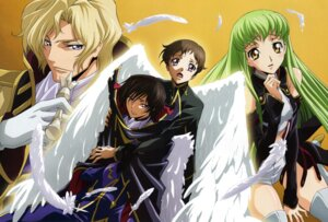 Rating: Safe Score: 12 Tags: c.c. code_geass lelouch_lamperouge mataga_daisuke rollo_lamperouge schneizel_el_britannia wings User: charunetra