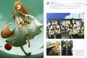 Rating: Safe Score: 33 Tags: animal_ears ayakura_juu dress holo megane seifuku spice_and_wolf tail User: suika123