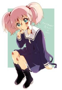 Rating: Safe Score: 11 Tags: blood namori seifuku skirt_lift yoshikawa_chinatsu yuru_yuri User: saemonnokami