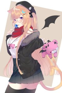 Rating: Safe Score: 17 Tags: animal_ears cleavage eyepatch megane nekomimi shouu-kun tail thighhighs wings User: charunetra