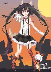 Rating: Safe Score: 32 Tags: amano_(els573) animal_ears halloween note-chan stockings tail thighhighs User: Mr_GT